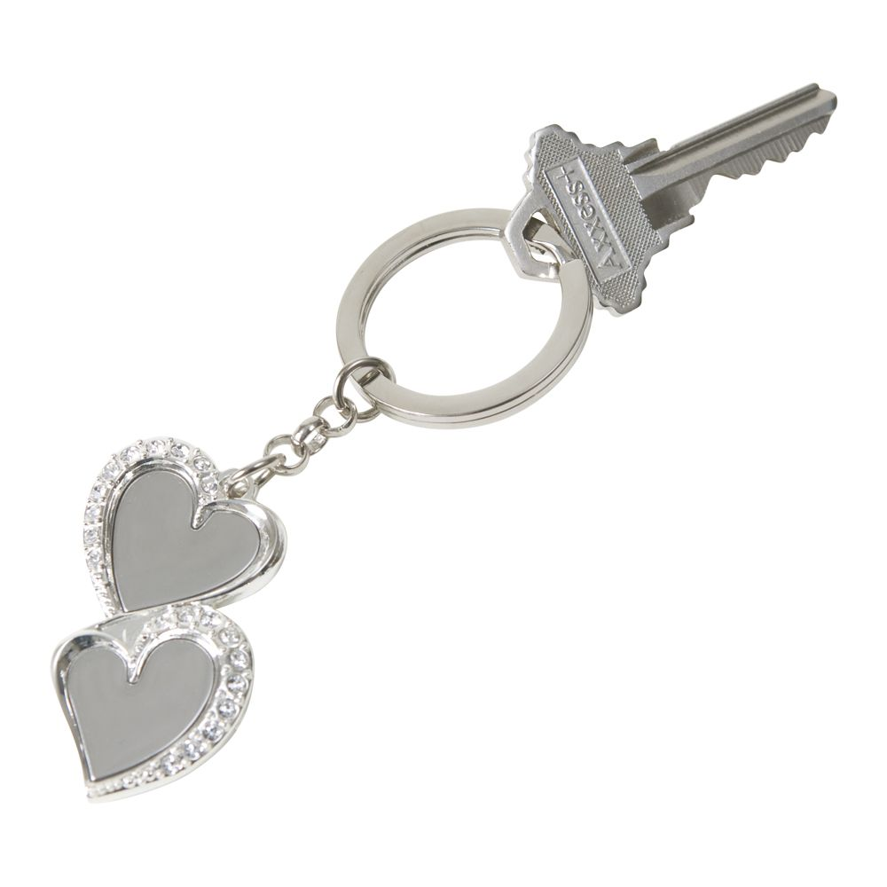 Heart Key Chain with Crystals