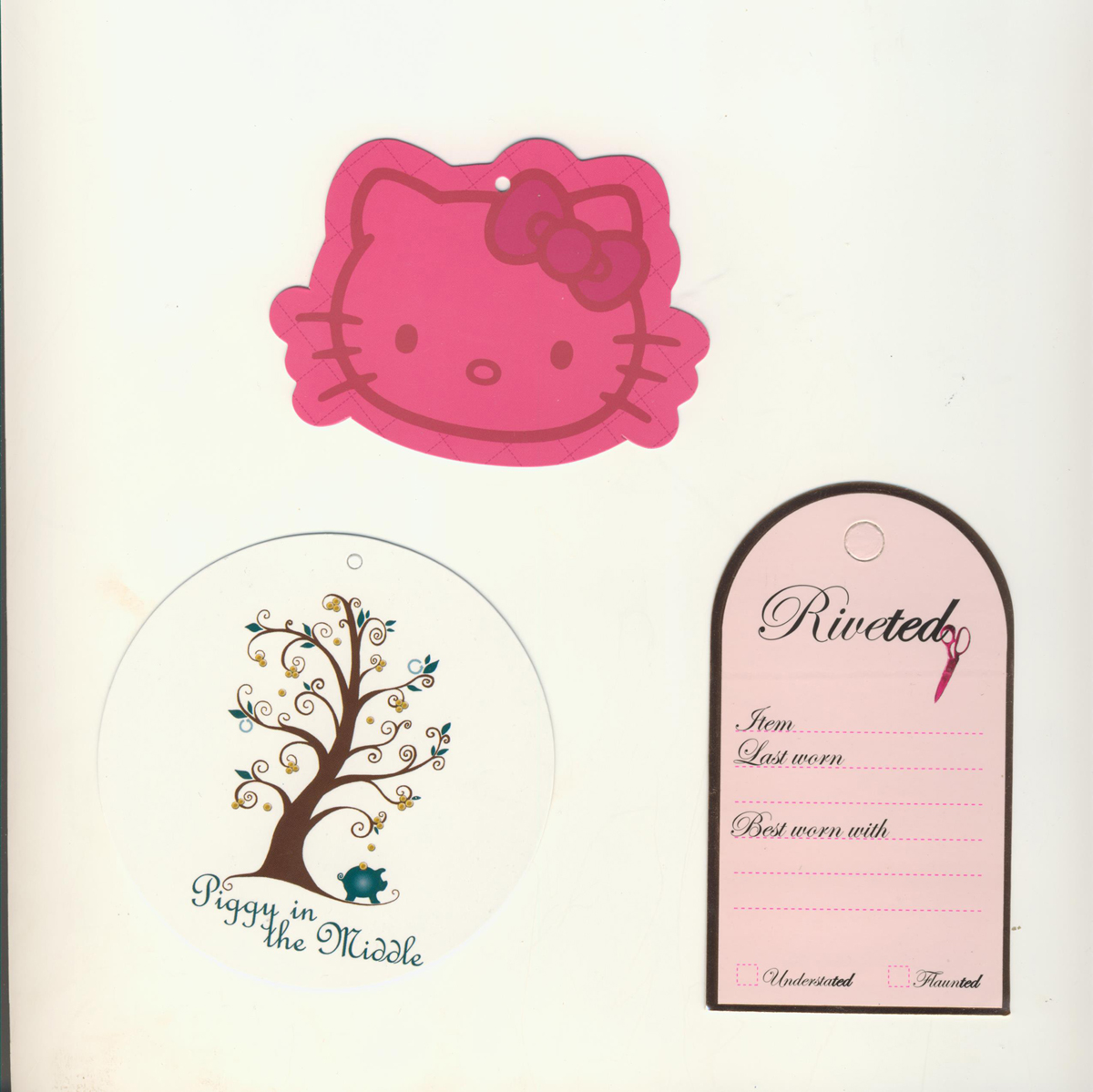 Custom Printed Hangtags Die Cut to different shapes