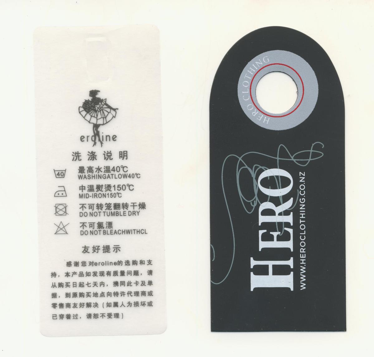 Custom Printed Hangtags on Unique Materials