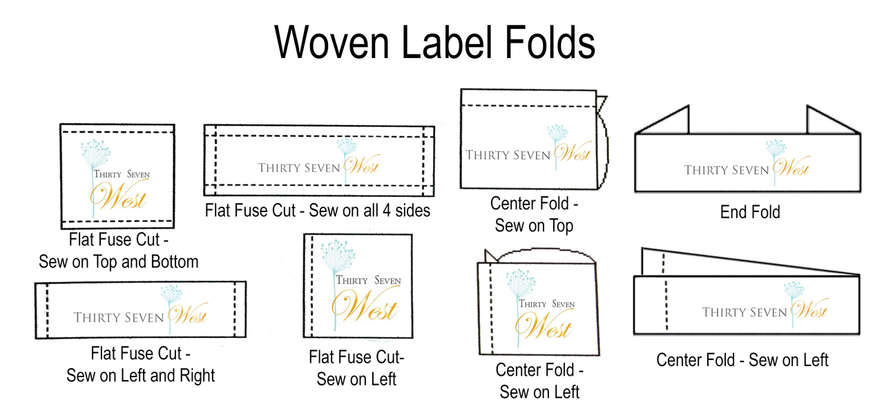 Types of Folds for Wardrobe and Costume Custom Woven Labels