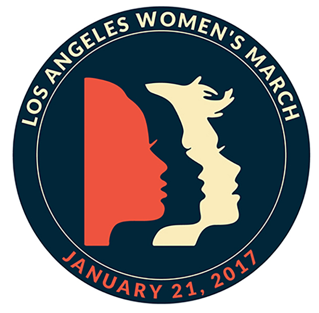 """LOS ANGELES WOMEN'S MARCH JANUARY 21, 2017 ROUND 2 1/2"""""""