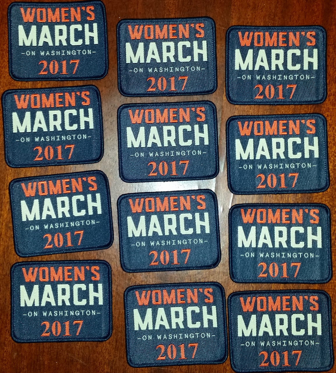 """Women's March on Washington 2017 Patches 2"""" tall x 2 1/2"""" wide"""