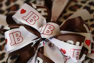 Corporate ribbon printed with custom logo