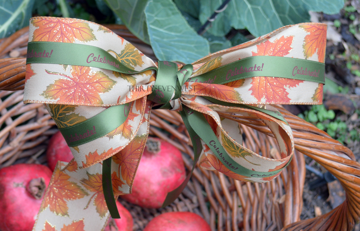 Personalized Fall Ribbon with leaves