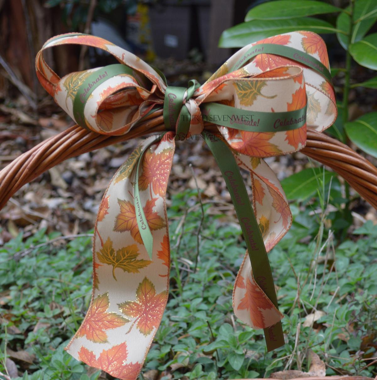 Custom Printed Ribbon with leaves
