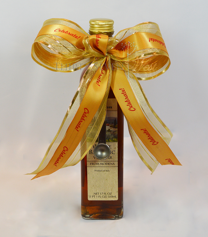 Customized Holiday Gifts with personalized printed ribbon