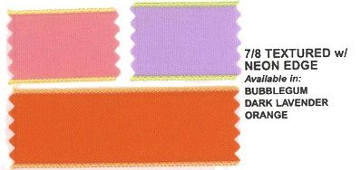 Personalized Neon Edge Ribbon Colors