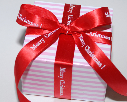"Personalized 5/8"" Satin Christmas Ribbon"