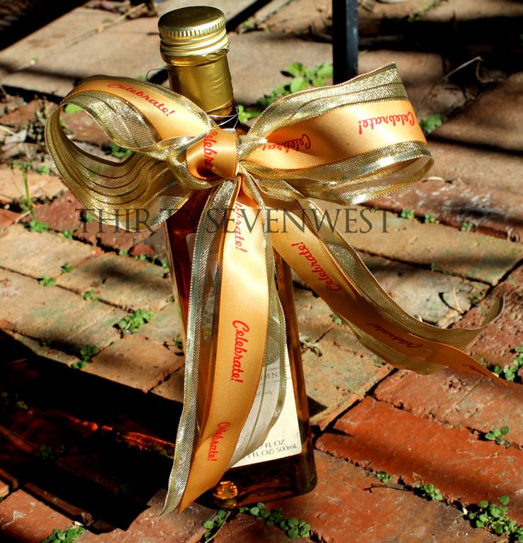 "Personalized 7/8"" Satin Chanukah Ribbon"