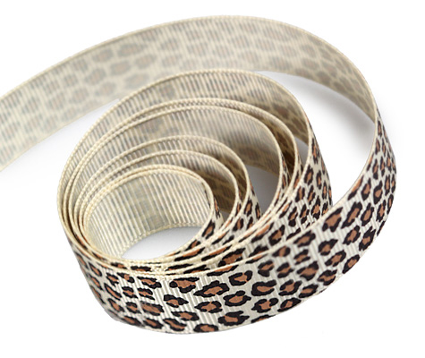 Grosgrain Leopard Ribbon