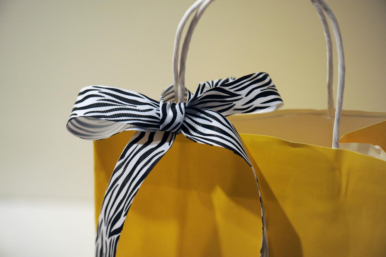 Grosgrain Zebra Ribbon for Personalized Gift Wrap