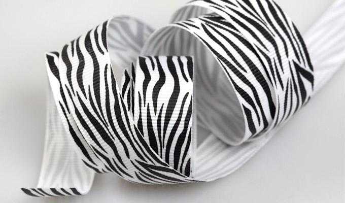 Grosgrain Zebra Ribbon