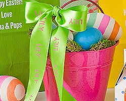 """Personalized 1 1/2"""" Satin Easter Ribbon"""