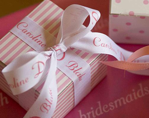 "Personalized 7/8"" Textured Wedding Ribbon"
