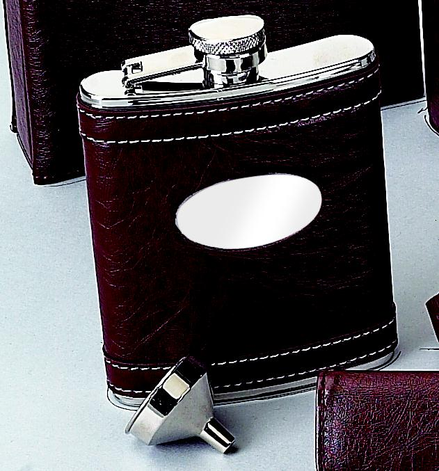Brown Flask with Engraving Plate