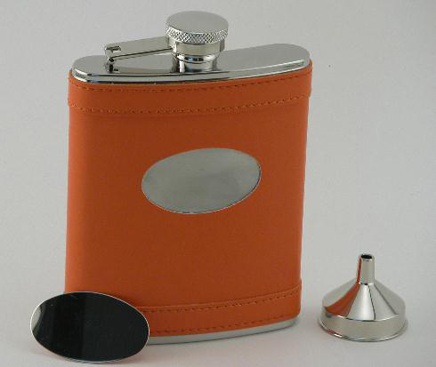 Orange Flask with Engraving Plate