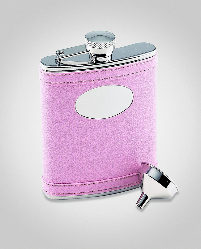 Pink Flask with Engraving Plate