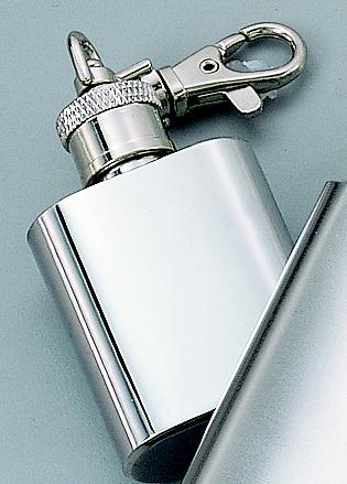 """Personalized 2.5"""" 1 oz Stainless Steel Keychain Flask"""