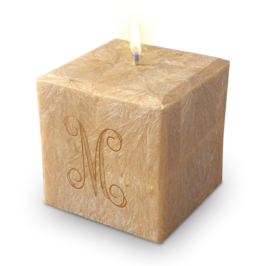 """3"""" 100% Palm Wax Initial Candle"""
