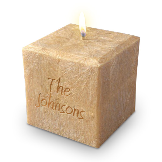 """3"""" 100% Palm Wax Name and Phrase Candle"""