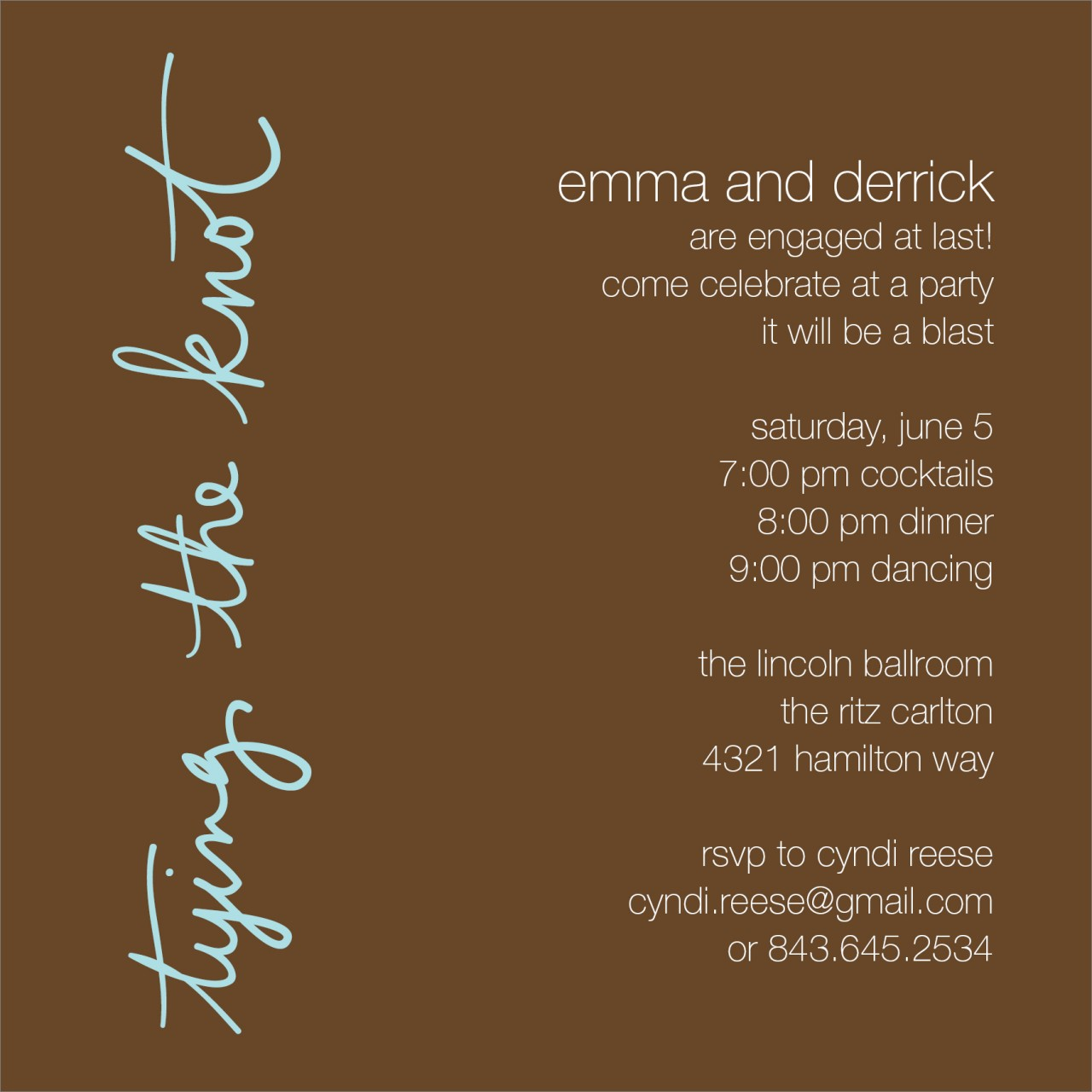 Chocolate Typing the Knot Invitation