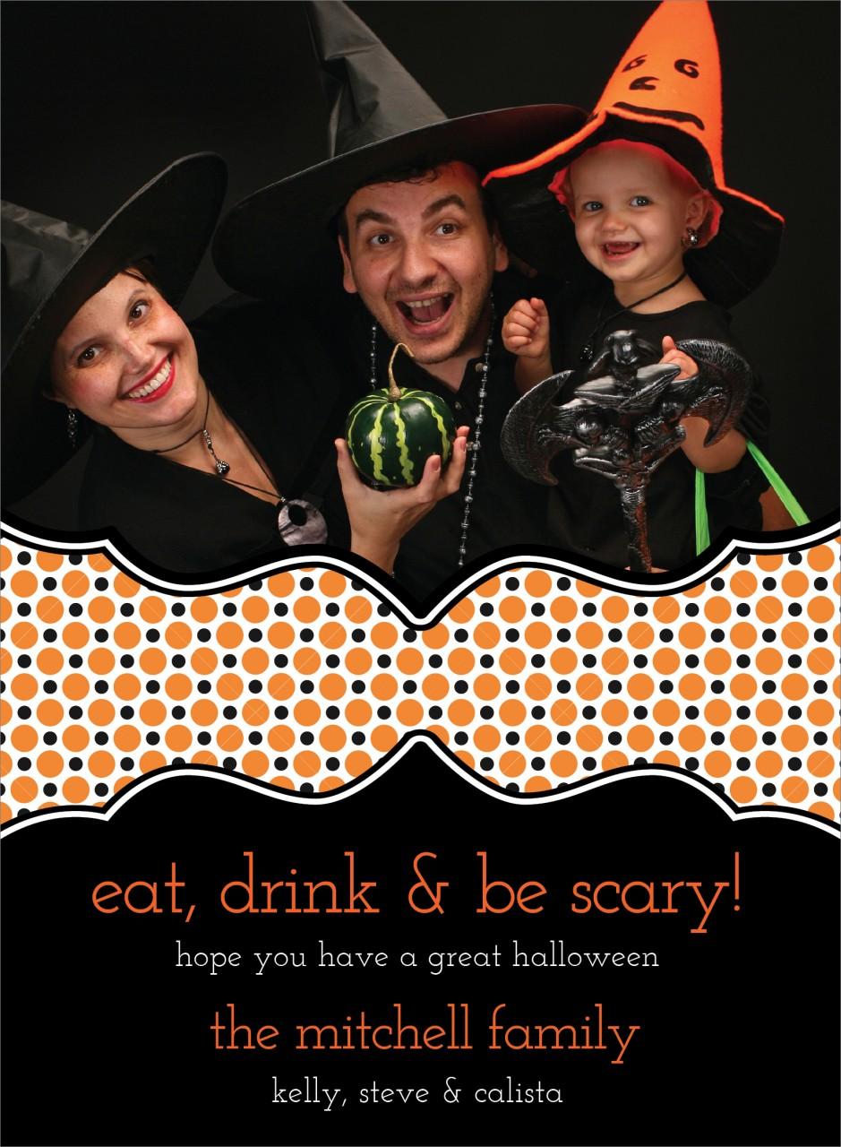 Dots Halloween Photo Card