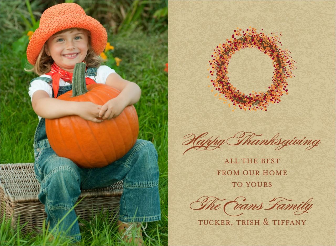 Autumn Wreath Photo Card