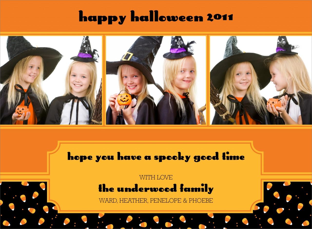 Candy Corn Halloween Photo Card