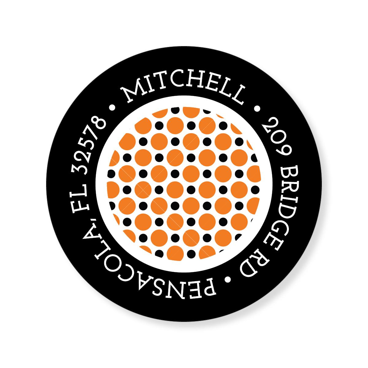 Dots Halloween Sticker