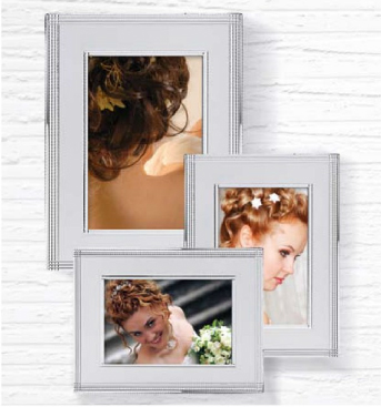 Silver Plated Pearly Picture Frame