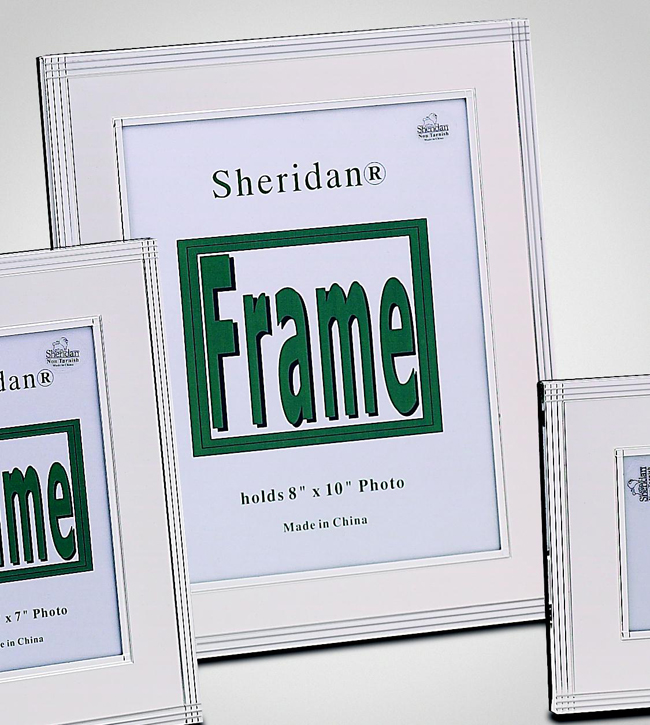 8x10 Silver Plated Pearly Picture Frame