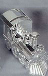 Personalized Nickel Plated Train Bank