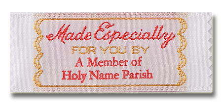 Made Especially for you by Pre-Designed Woven Fabric Clothing Labels