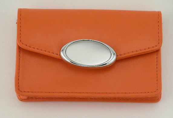 Orange Card Case with Engraving Plate