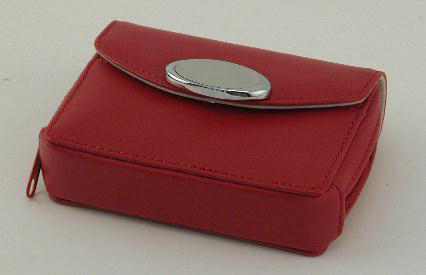 Apple Red Zippered Card Case