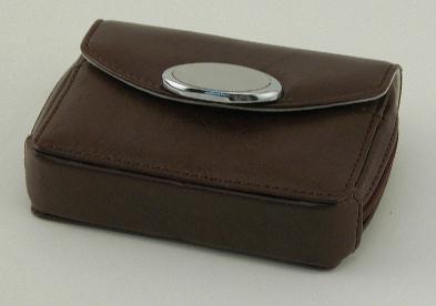 Brown Zippered Card Case