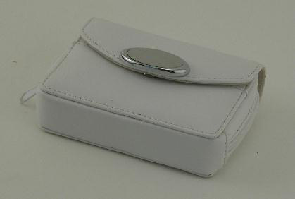 Zippered Card Case - White