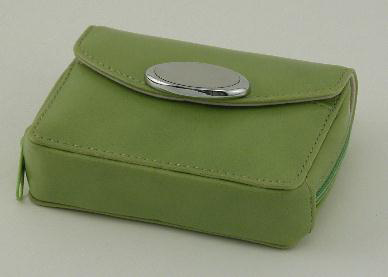 Zippered Card Case - Lime Green