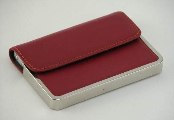 Crimson Half Flap Card Case