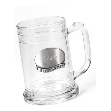 Personalized 16 oz. Mug with Pewter Medallion