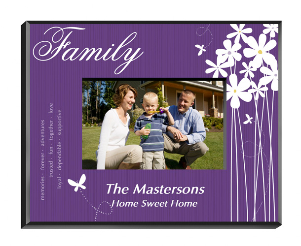 Personalized Blooming Flowers Family Picture Frame
