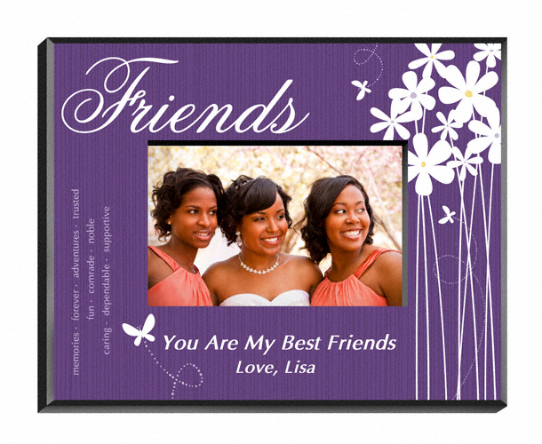 Personalized Blooming Flowers Friends Picture Frame