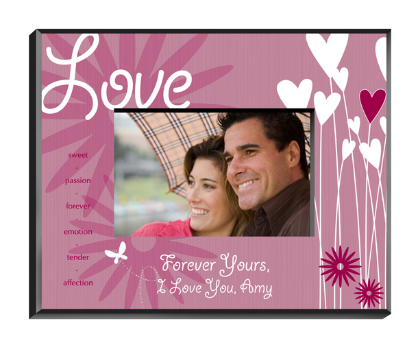 Blooming Hearts Personalized Love Picture Frame