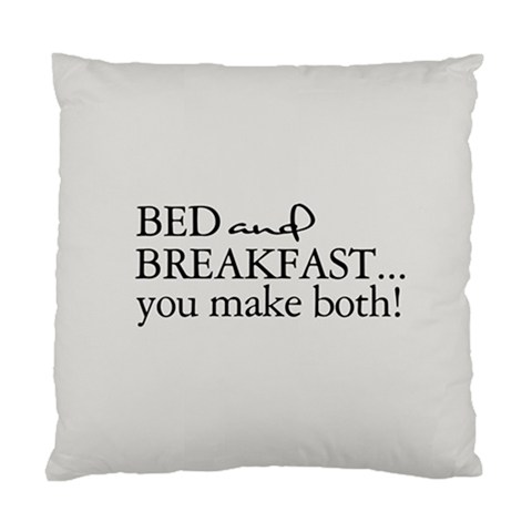 Bed and Breakfast... you make both! Custom Designer Pillows