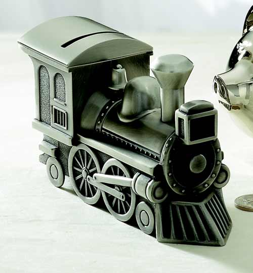 Train Bank Pewter Finish