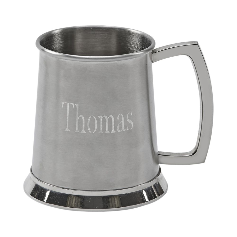 20 oz Stainless Steel Tankard - Matte and Polished Finish