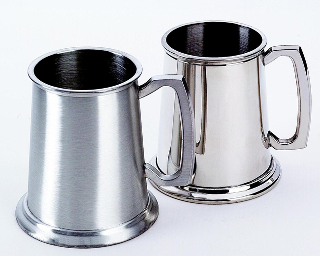"""Personalized 4.5"""" 20 oz Stainless Steel Tankard - Matte and Polished Finish"""