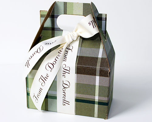 """7/8"""" Personalized Printed Textured Ribbon"""
