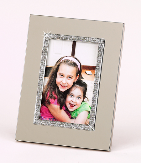 4x6 All That Glitters Picture Frame with Metal Border