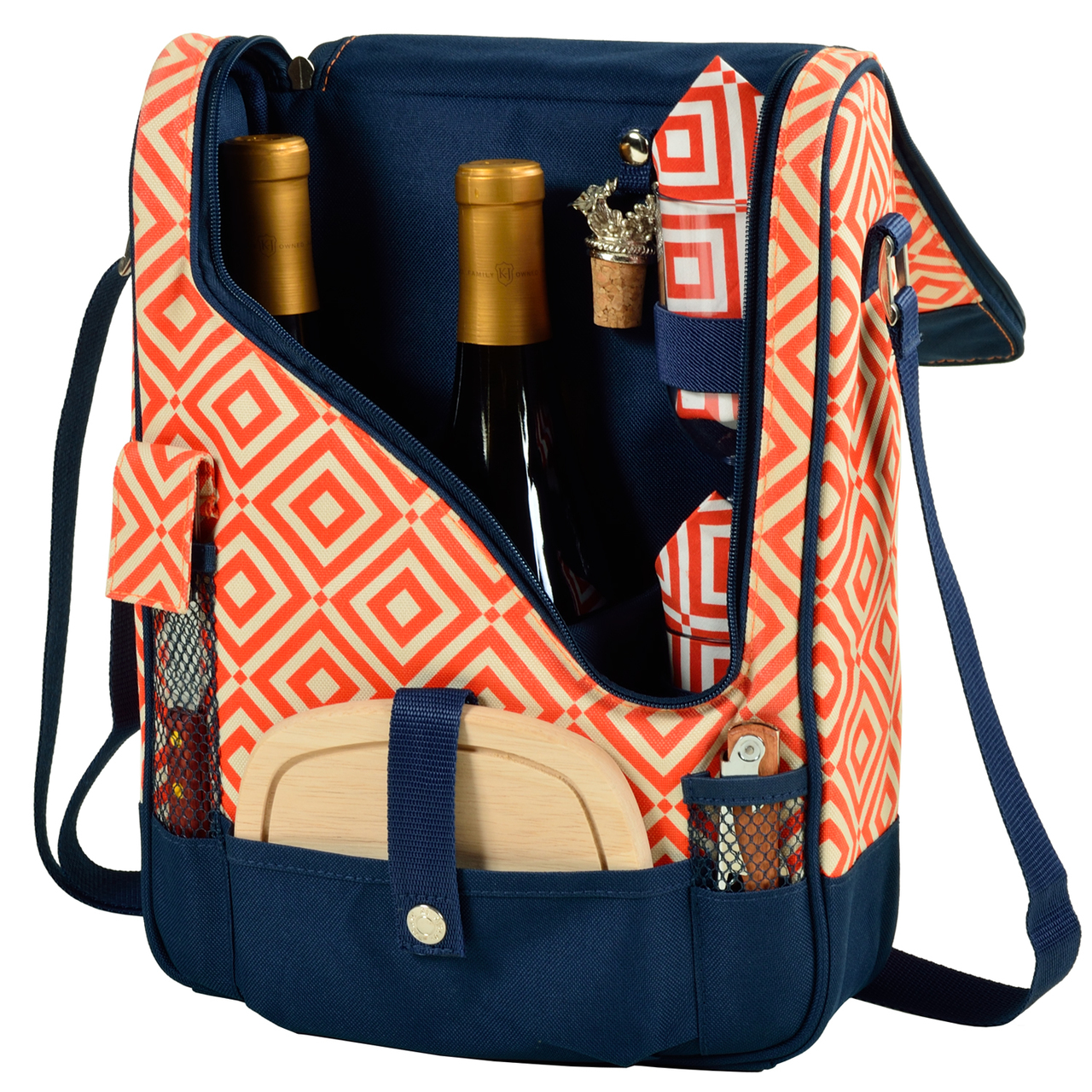 Diamond Collection Pinot Wine and Cheese Cooler for 2